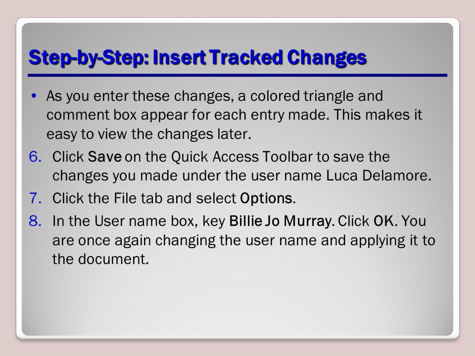 Step-by-Step: Insert Tracked Changes