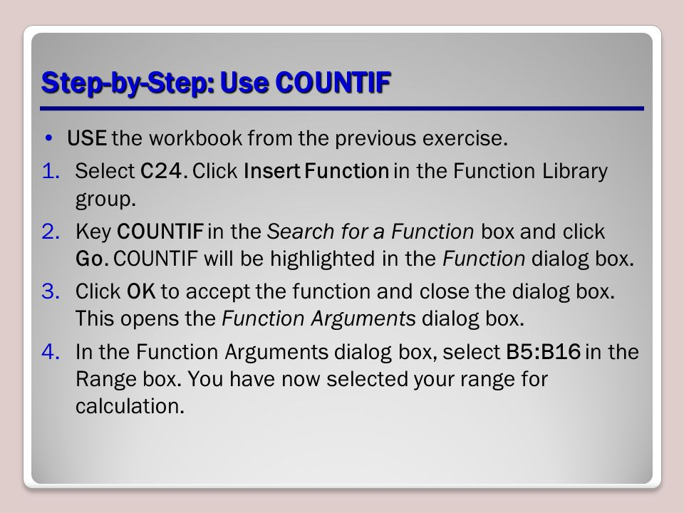 Step-by-Step: Use COUNTIF