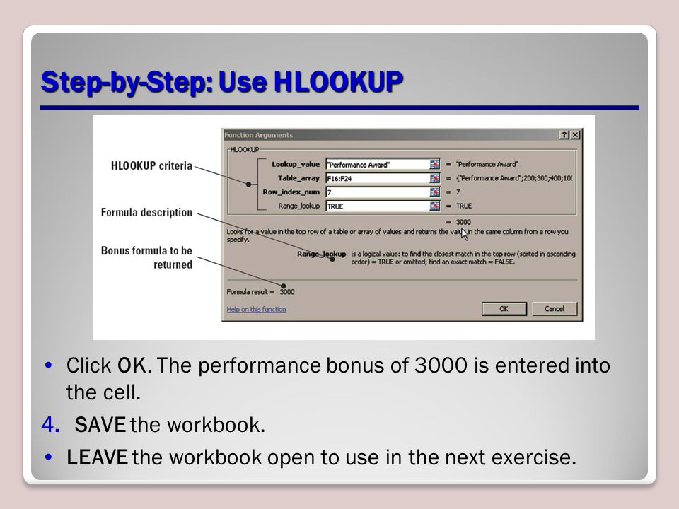 Step-by-Step: Use HLOOKUP