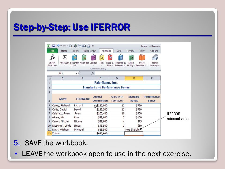 Step-by-Step: Use IFERROR