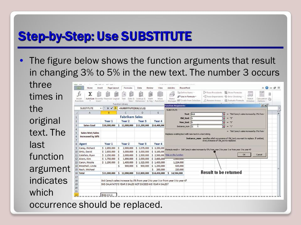 Step-by-Step: Use SUBSTITUTE