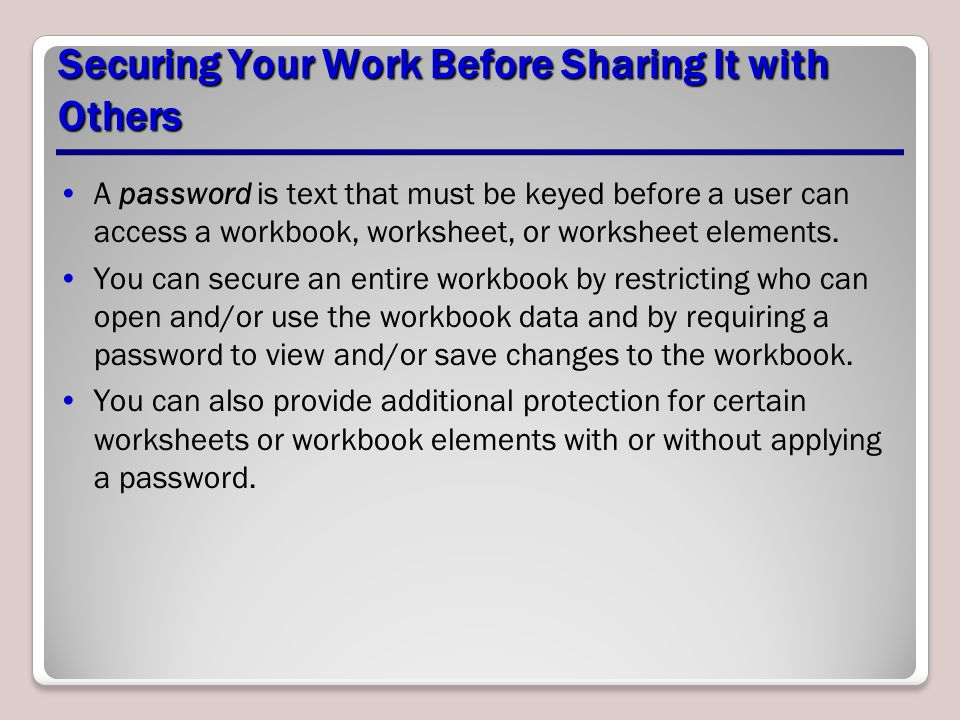 Securing Your Work Before Sharing It with Others