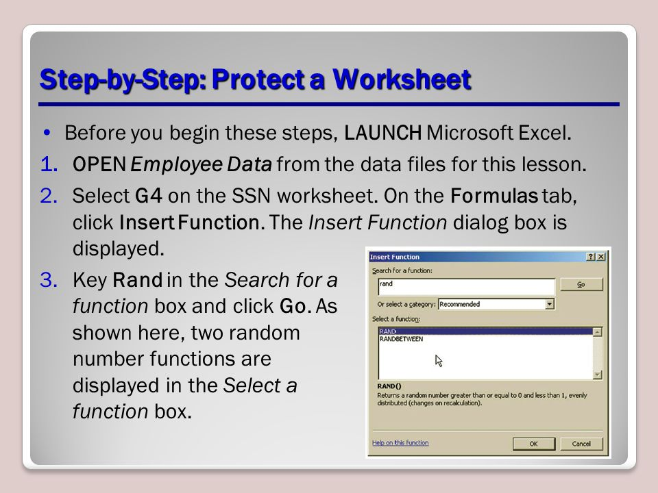 Step-by-Step: Protect a Worksheet