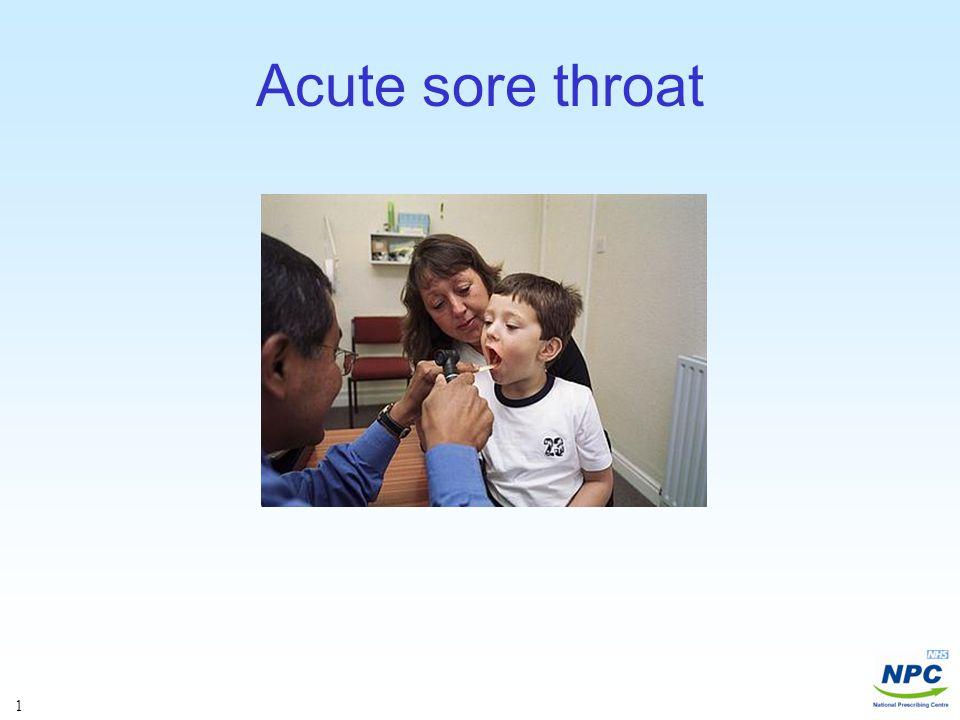 Antibiotics - Sore throat