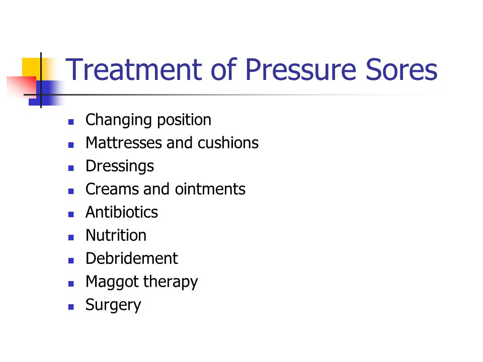 Treatment of Pressure Sores