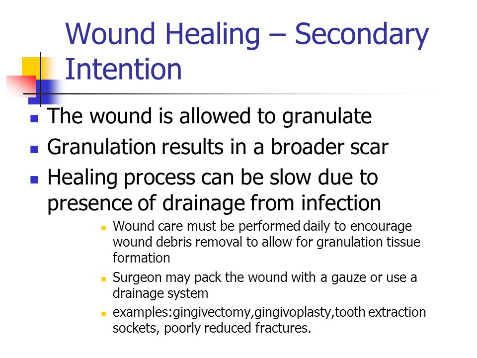 Wound Healing – Secondary Intention