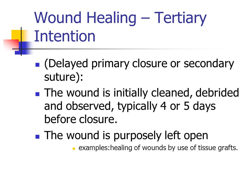 Wound Healing – Tertiary Intention