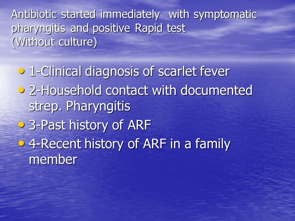 1-Clinical diagnosis of scarlet fever