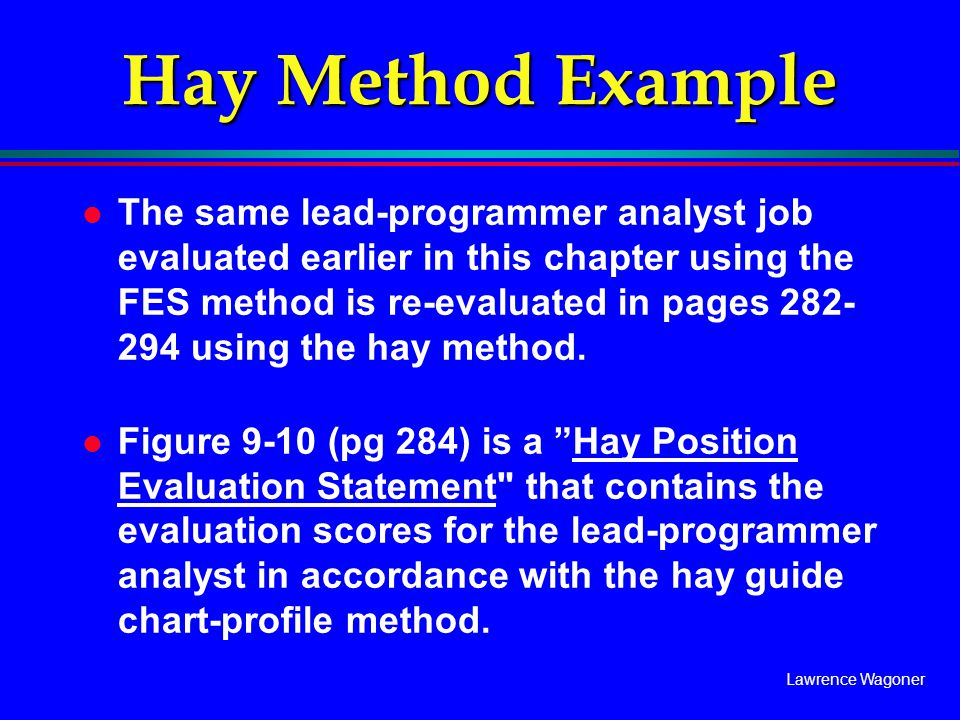 Hay Method Example