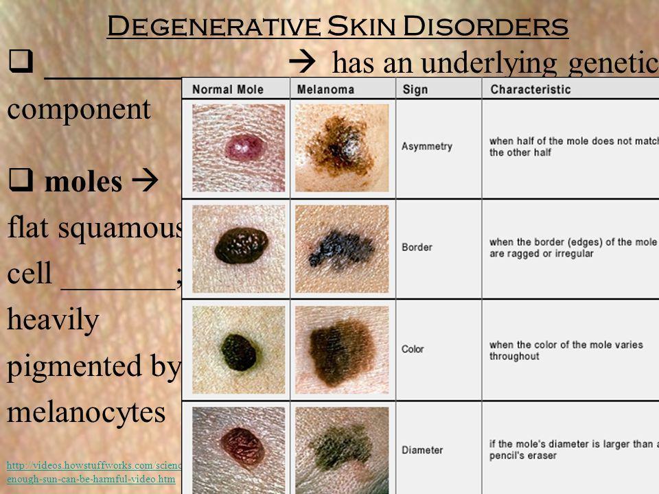 Degenerative Skin Disorders
