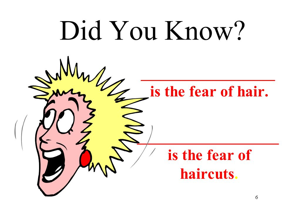 Did You Know _________________ is the fear of hair.
