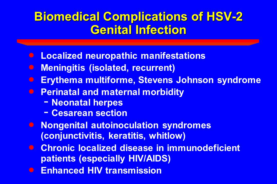 Biomedical Complications of HSV-2 Genital Infection