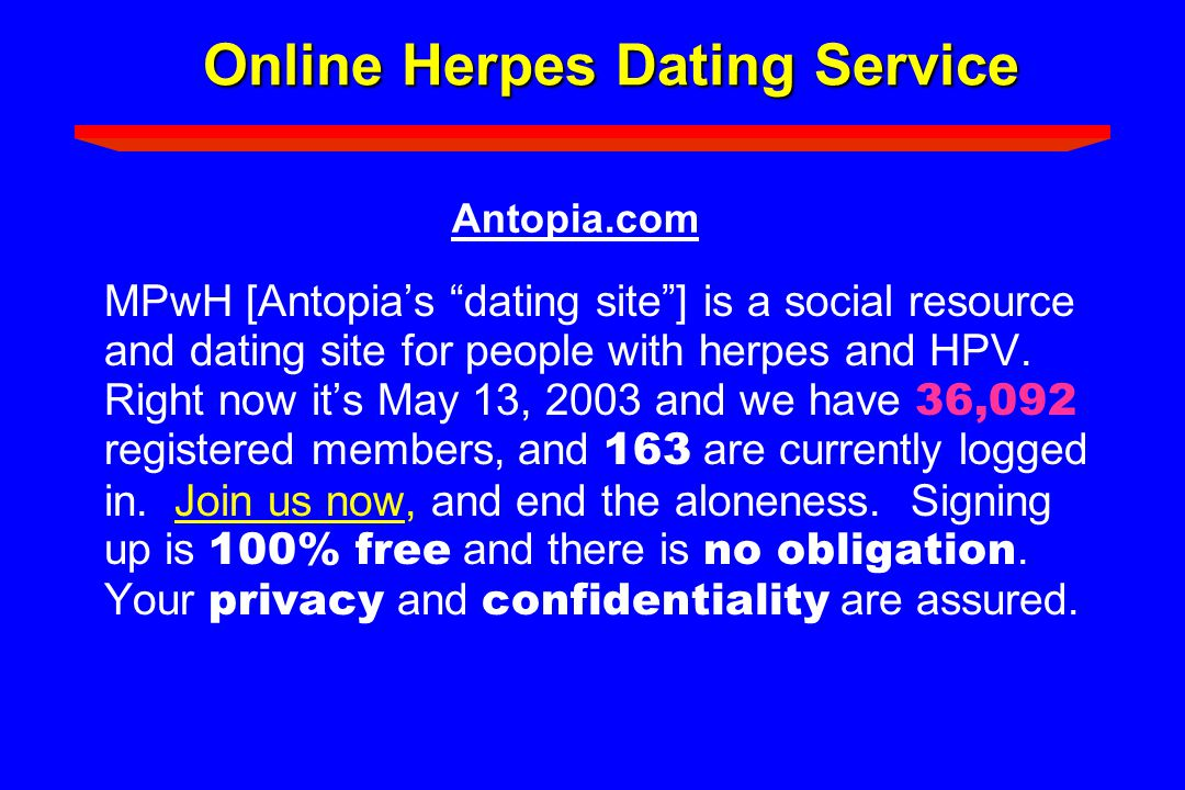 Online Herpes Dating Service