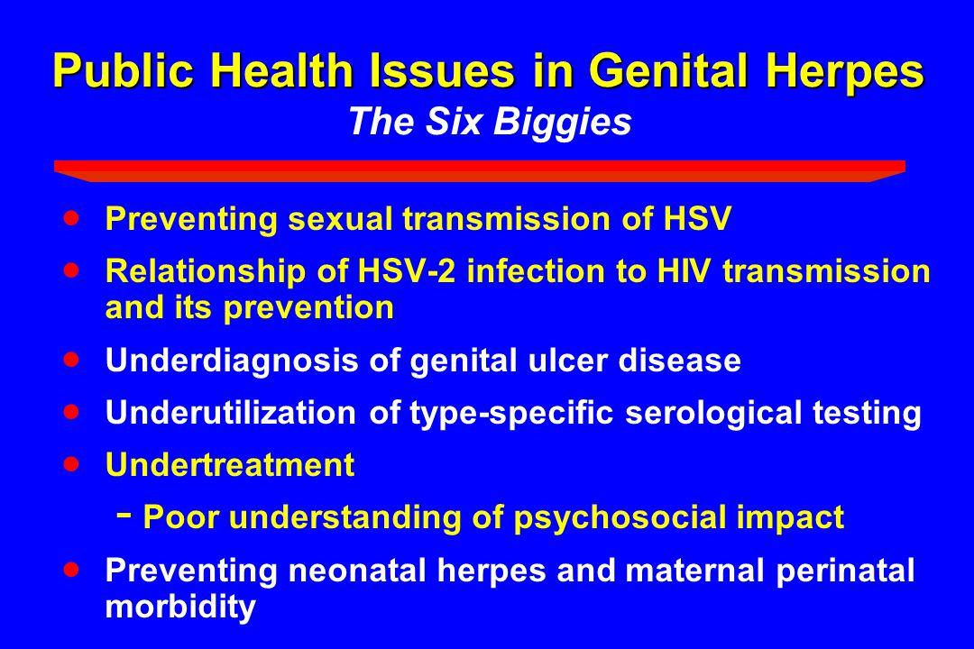 Public Health Issues in Genital Herpes The Six Biggies