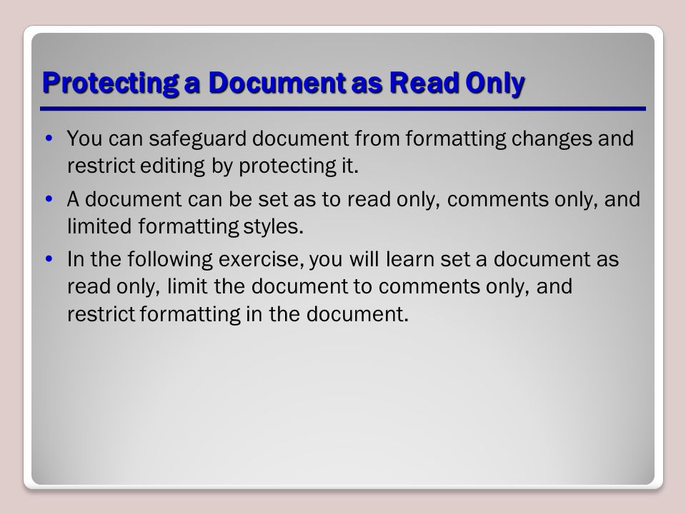 Protecting and Sharing Documents - ppt download
