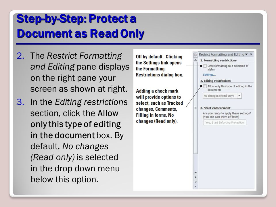 Step-by-Step: Protect a Document as Read Only