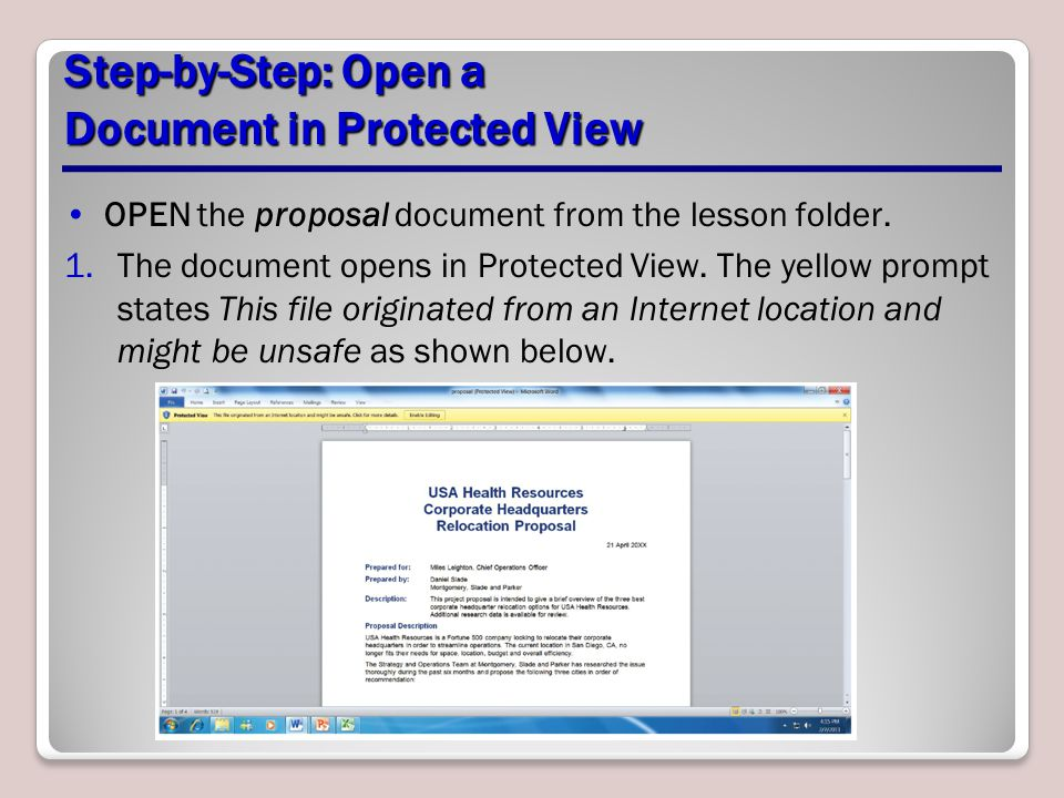 Step-by-Step: Open a Document in Protected View