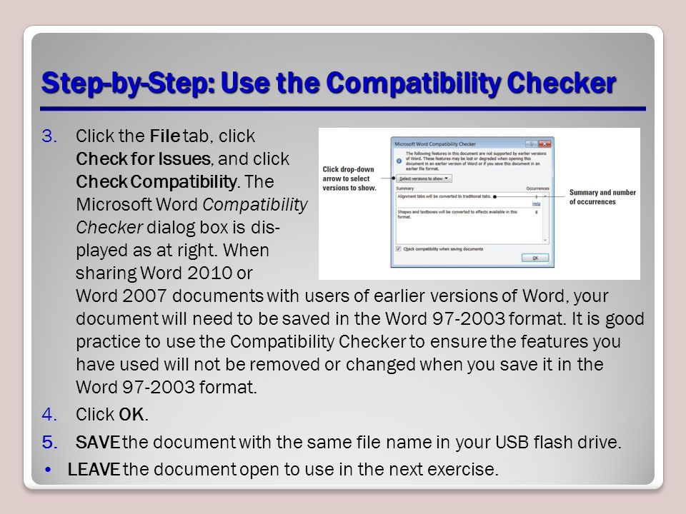 Step-by-Step: Use the Compatibility Checker