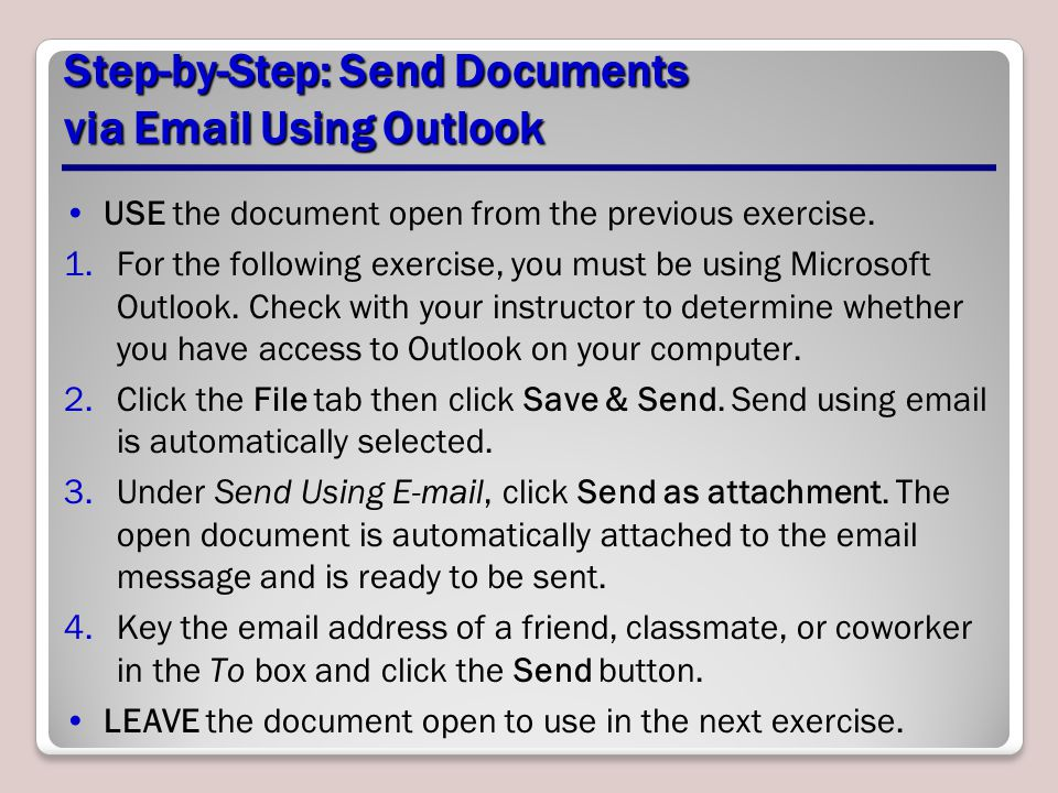 Step-by-Step: Send Documents via Email Using Outlook