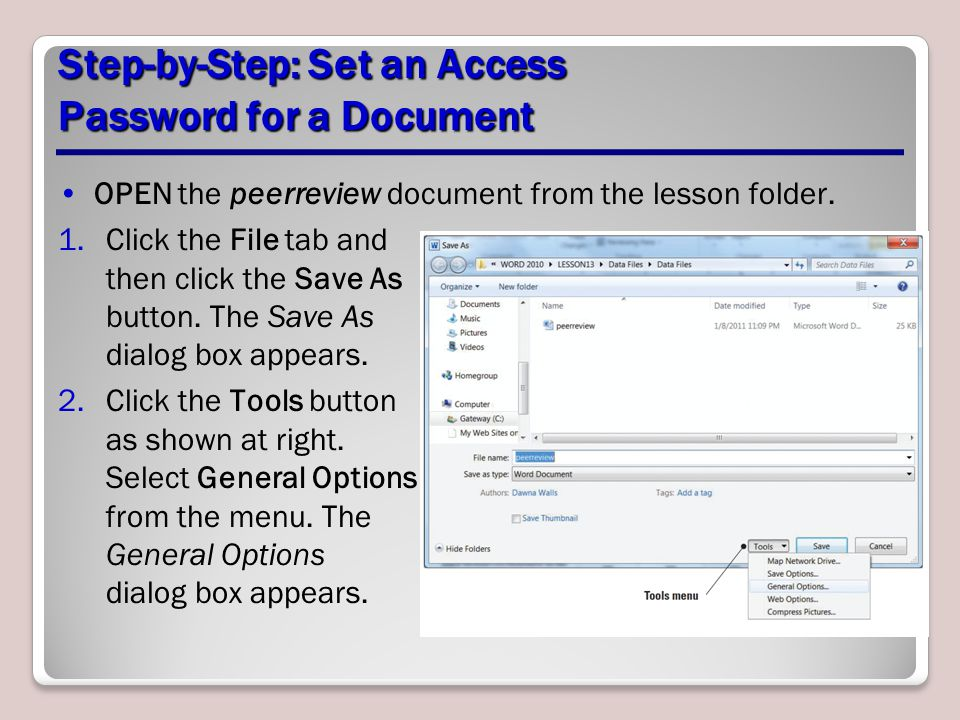 Step-by-Step: Set an Access Password for a Document