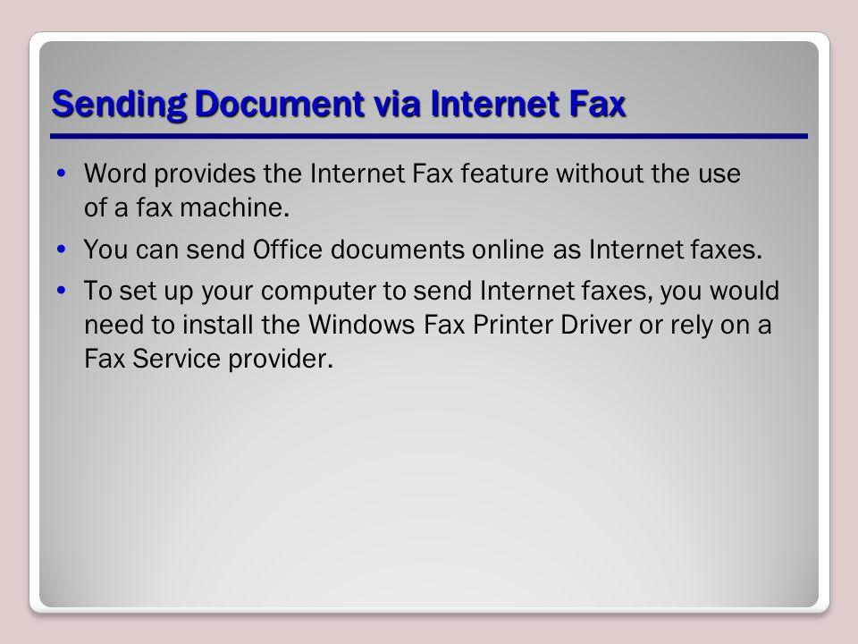 Sending Document via Internet Fax