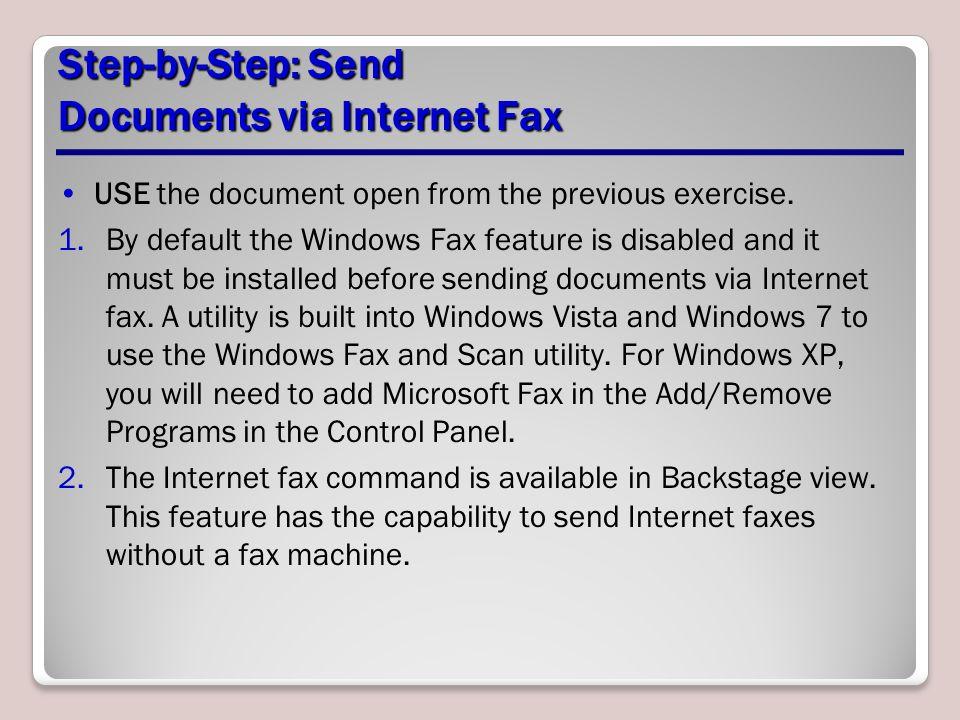 Step-by-Step: Send Documents via Internet Fax