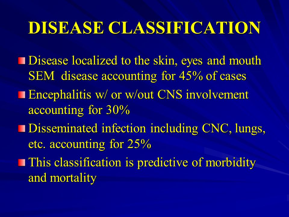 DISEASE CLASSIFICATION