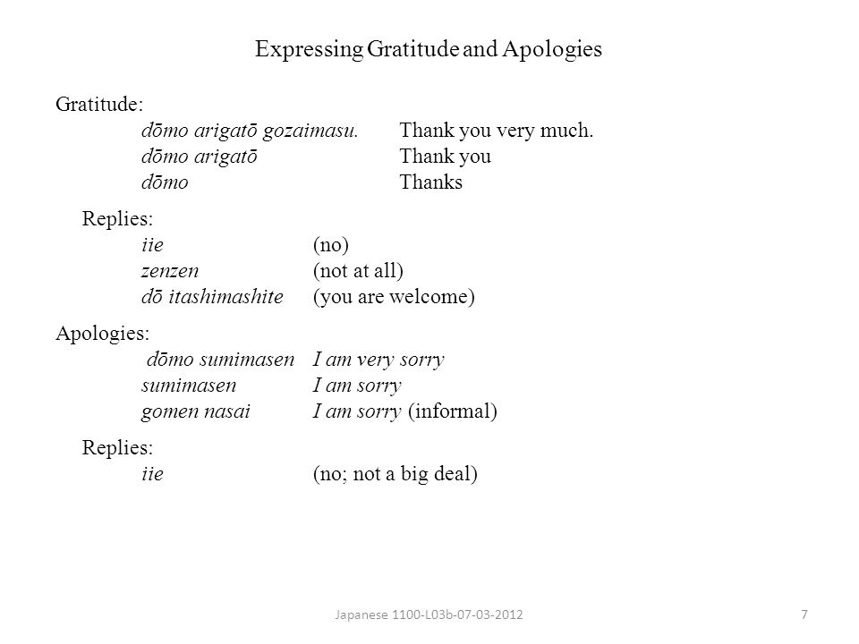 Expressing Gratitude and Apologies