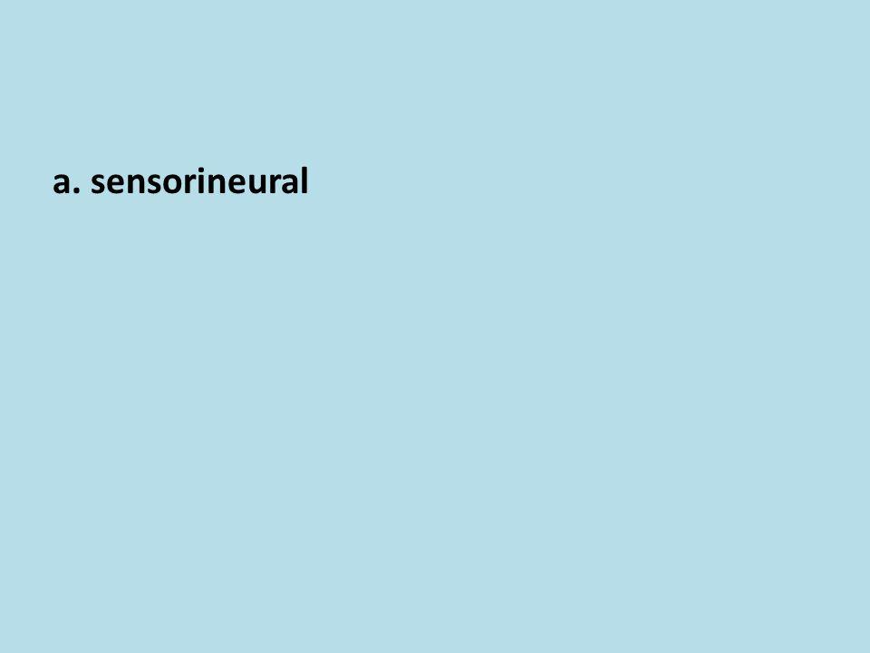 a. sensorineural