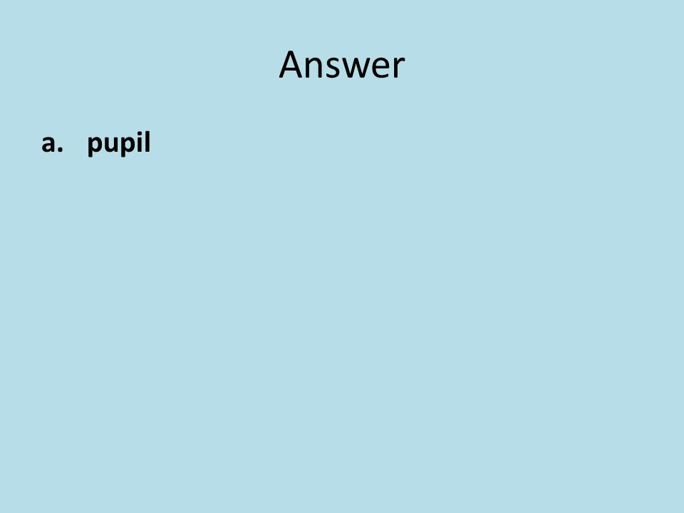 Answer pupil
