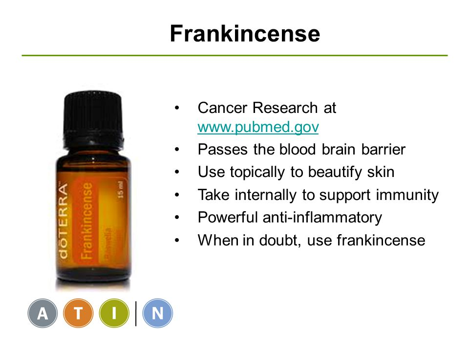 Frankincense Cancer Research at www.pubmed.gov
