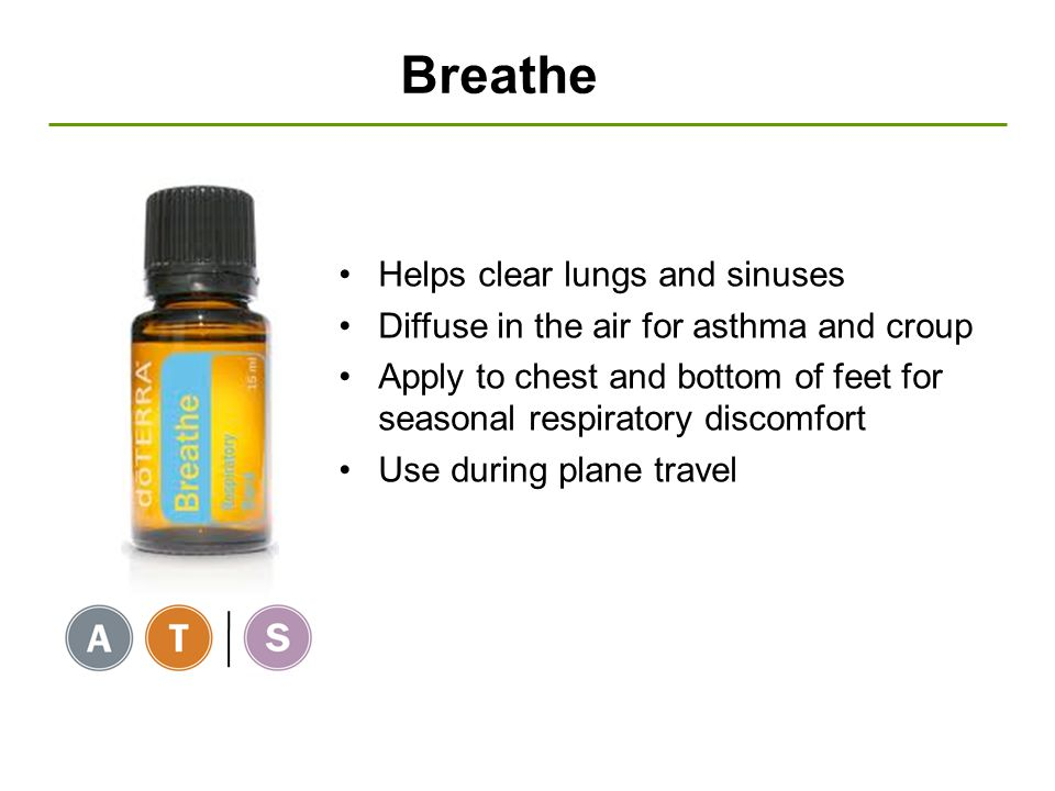 Breathe Helps clear lungs and sinuses