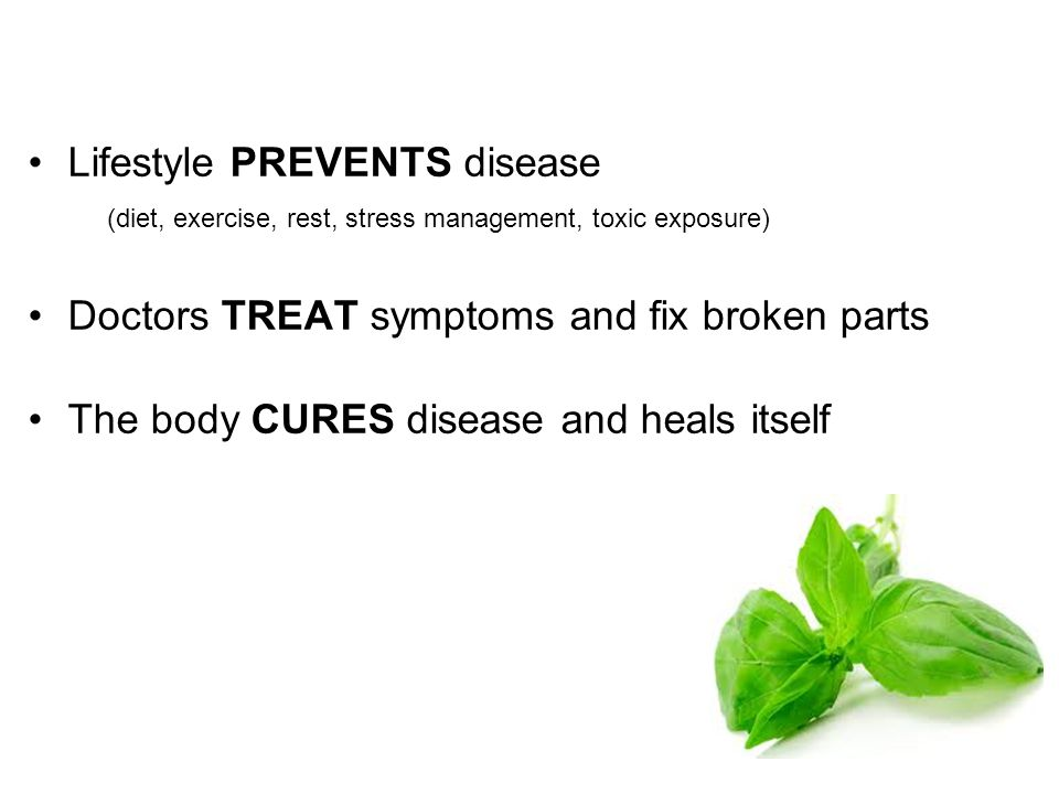 Lifestyle PREVENTS disease