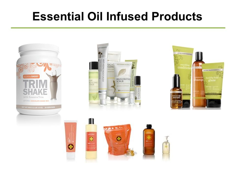 Essential Oil Infused Products
