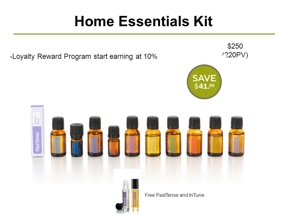 Home Essentials Kit $250 (220PV)