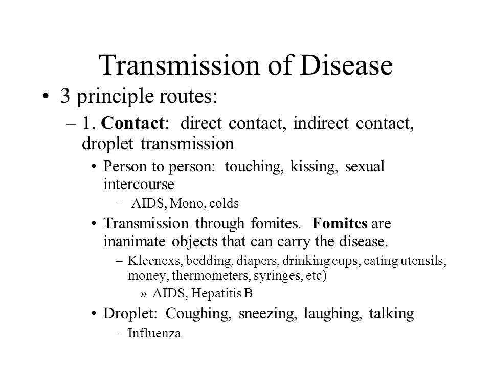 Transmission of Disease