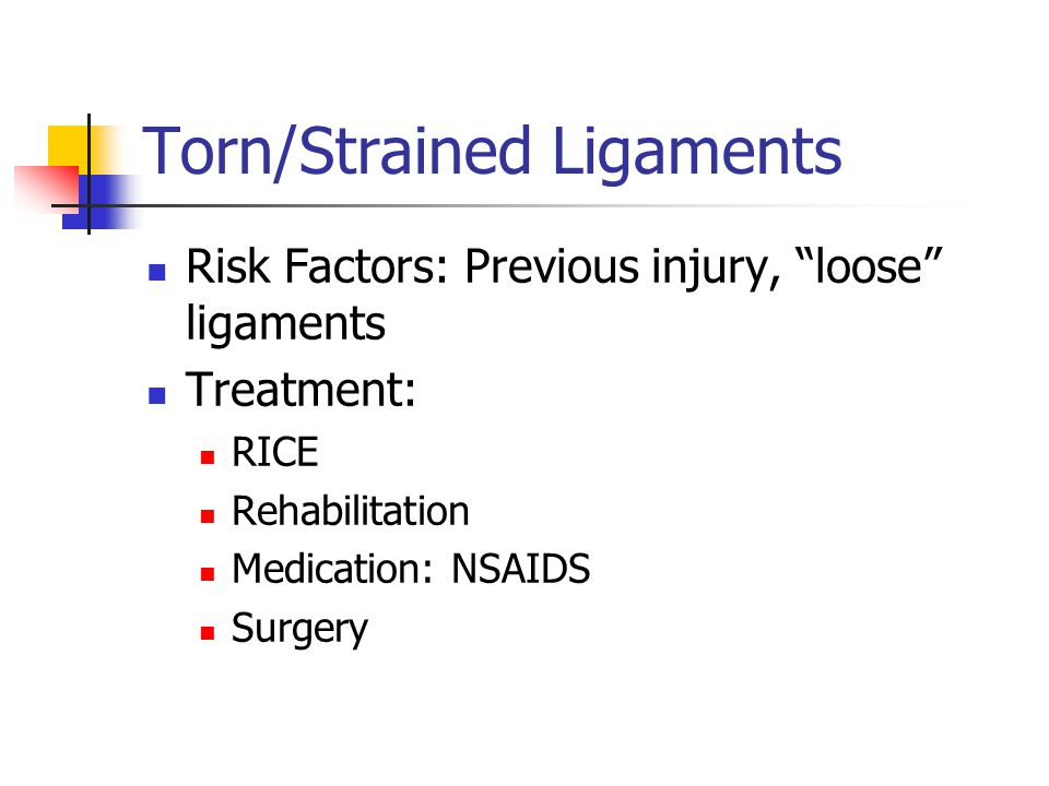 Torn/Strained Ligaments