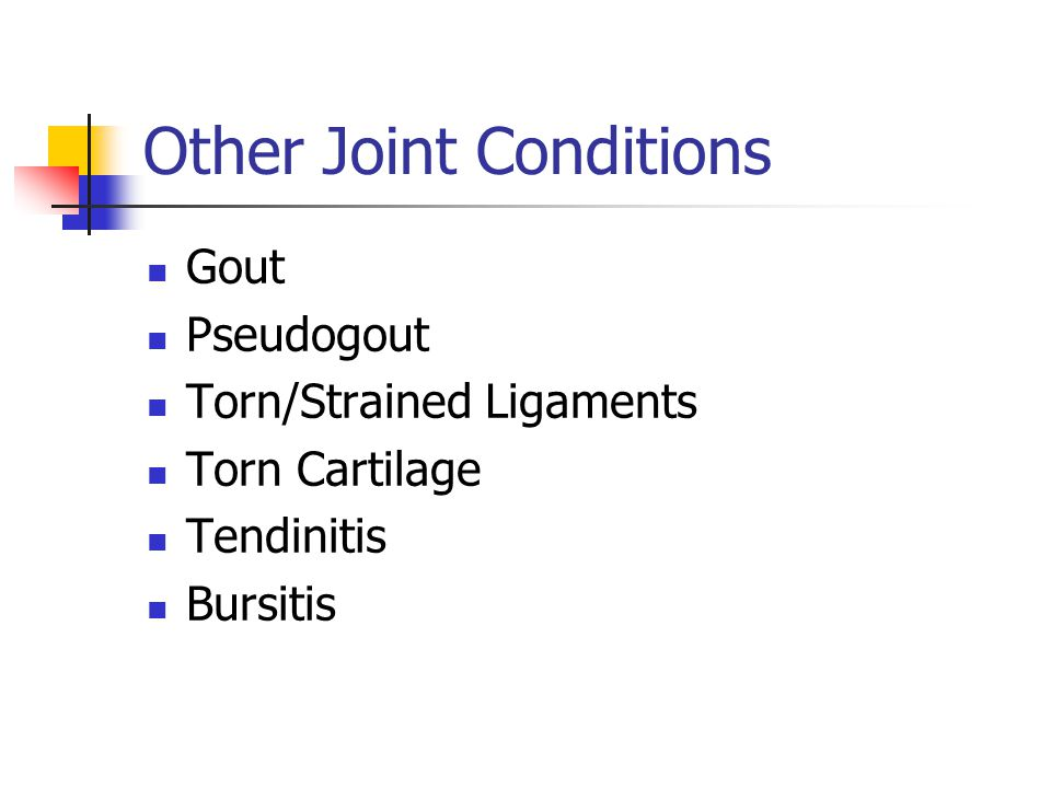 Other Joint Conditions