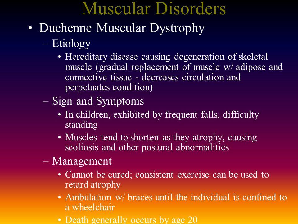 Muscular Disorders Duchenne Muscular Dystrophy Etiology