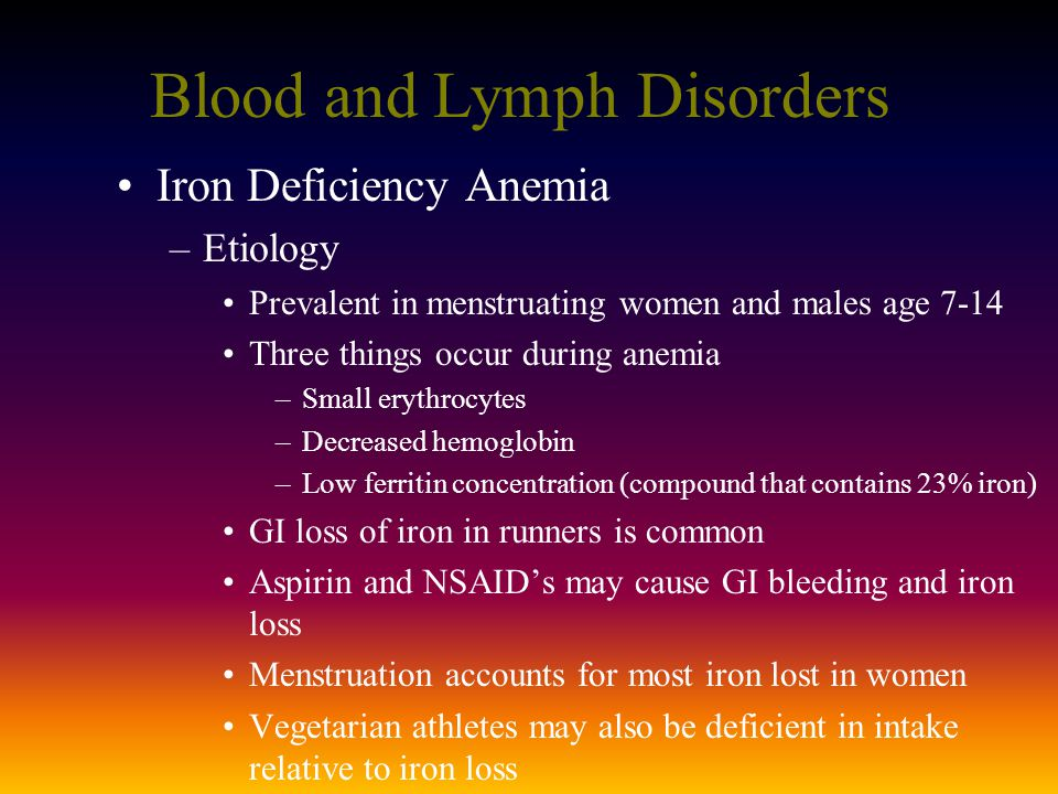 Blood and Lymph Disorders