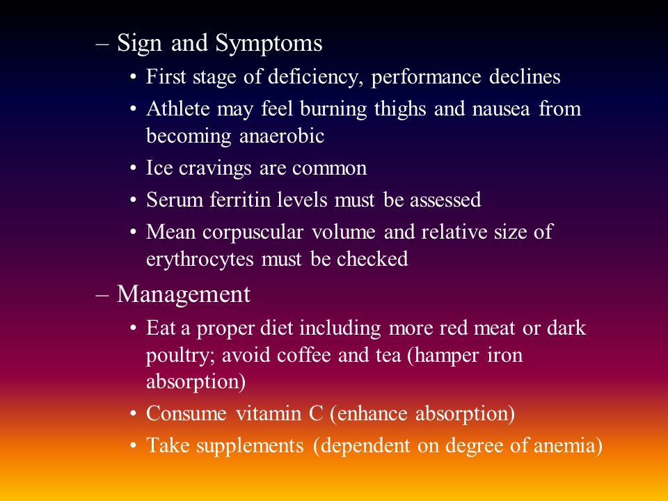Sign and Symptoms Management