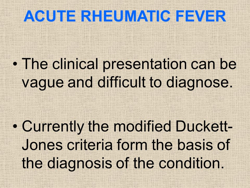 The clinical presentation can be vague and difficult to diagnose.