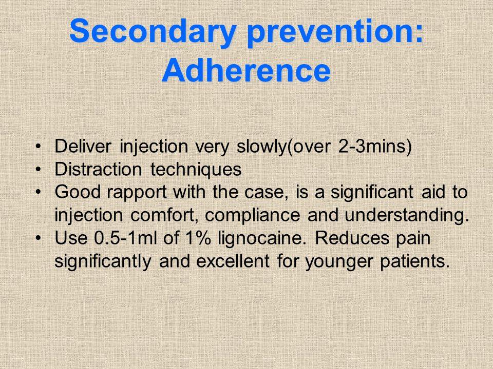 Secondary prevention: Adherence
