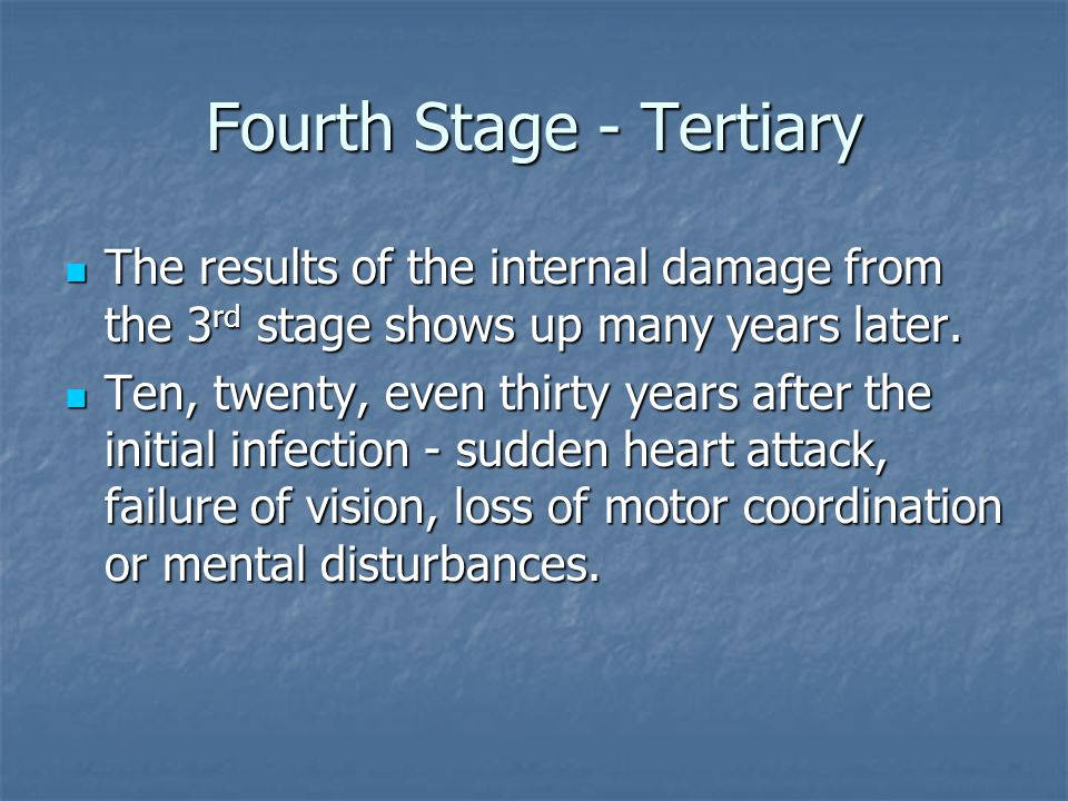 Fourth Stage - Tertiary