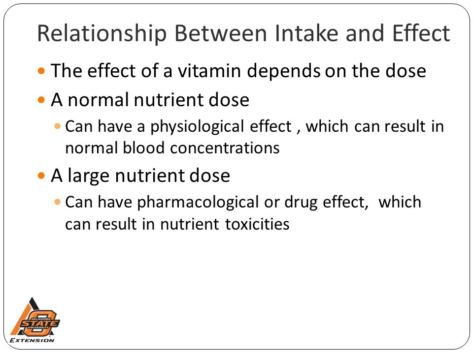 Relationship Between Intake and Effect