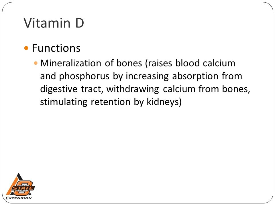 Vitamin D Functions.