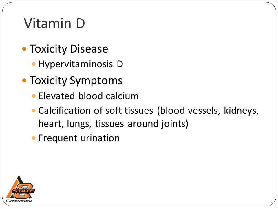 Vitamin D Toxicity Disease Toxicity Symptoms Hypervitaminosis D