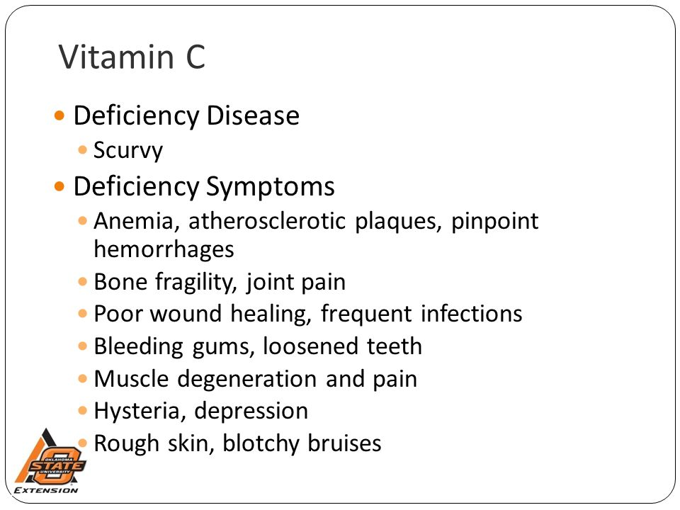Vitamin C Deficiency Disease Deficiency Symptoms Scurvy