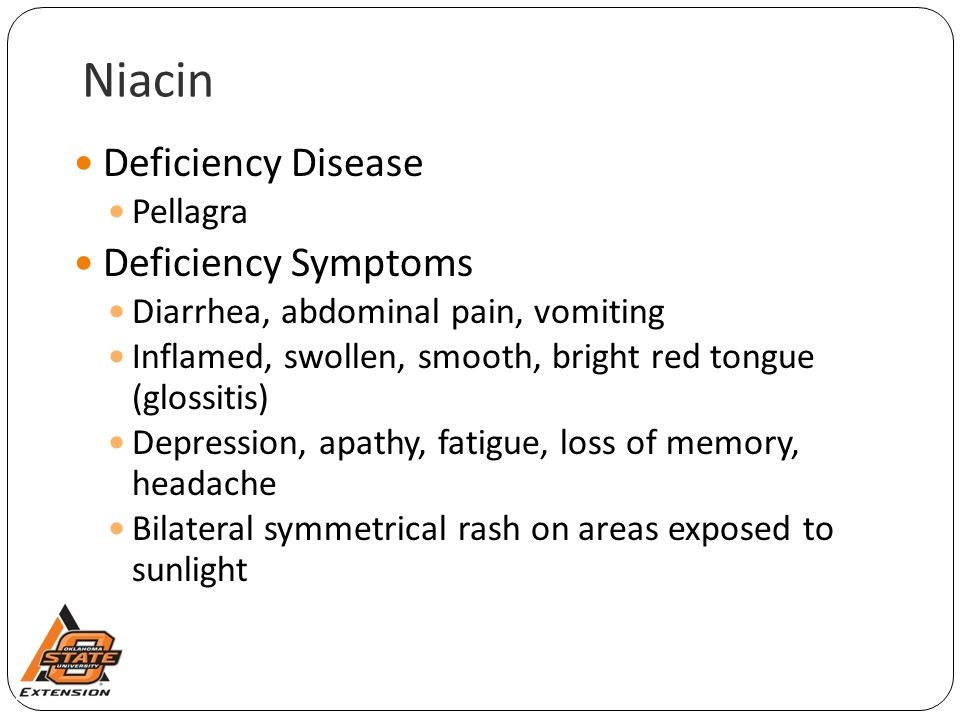 Niacin Deficiency Disease Deficiency Symptoms Pellagra