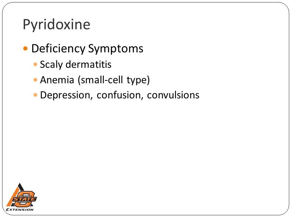 Pyridoxine Deficiency Symptoms Scaly dermatitis